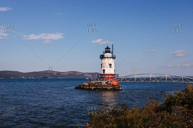 Sleepy Hollow, NY, United States - October 10, 2020: Sleepy Hollow Lighthouse, New York