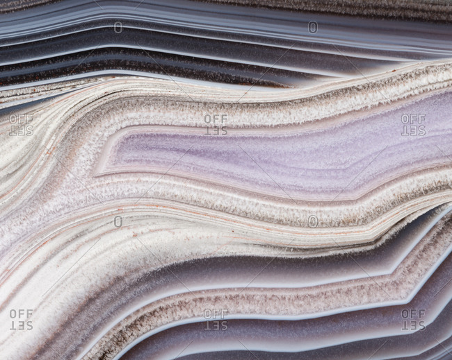 Macro photograph of the banding patterns in an agate