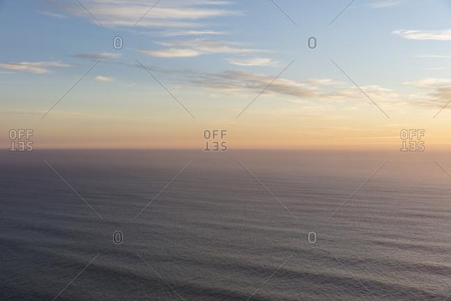 Vast ocean and sky at dusk, Manzanita, Oregon coast