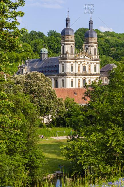 May 12, 2018: Europe, Germany, Baden-Wuerttemberg, Hohenlohe, Schontal, Schontal Monastery