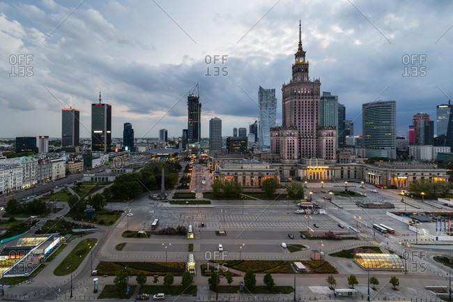May 14, 2020: Europa, Poland, Voivodeship Masovian, Warsaw - the capital and largest city of Poland - Palace of Culture and Science