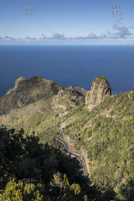 Road to Taganana and the Atlantic Ocean, Tenerife, Canary Islands, Spain