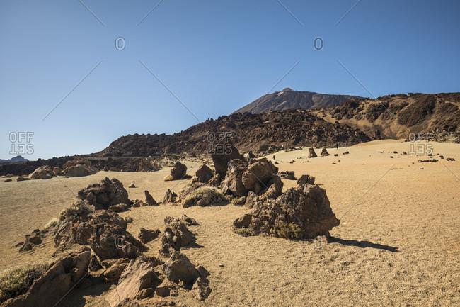 Pumice stone field at the Minas de San Jose viewpoint, El Teide National Park, UNESCO World Heritage, Tenerife, Canary Islands, Spain