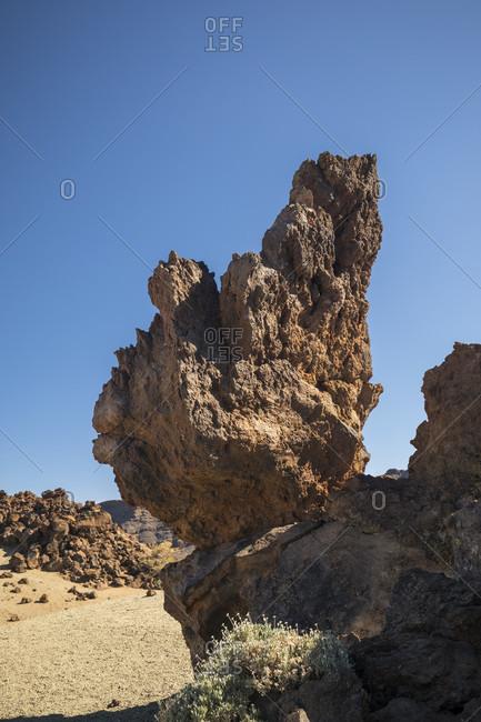 Rock formations at the Minas de San Jose viewpoint, El Teide National Park, UNESCO World Heritage, Tenerife, Canary Islands, Spain