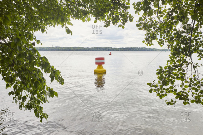 Sea mark, lake, barrel, red-white