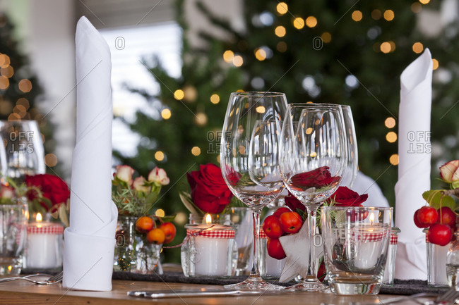 Table decoration, wintry, decoration, Christmas, festival, table, Christmas