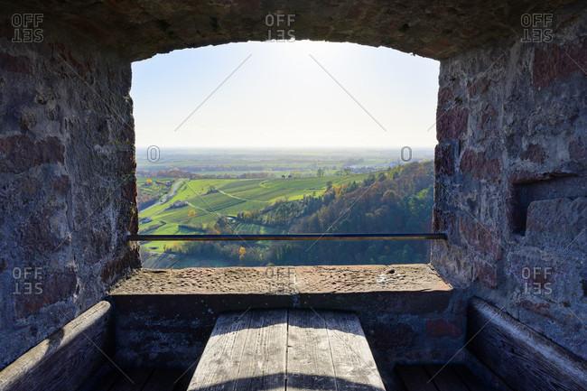 Germany, Rhineland-Palatinate, Southern Palatinate, Klingenmunster, Landeck Castle, looking south.
