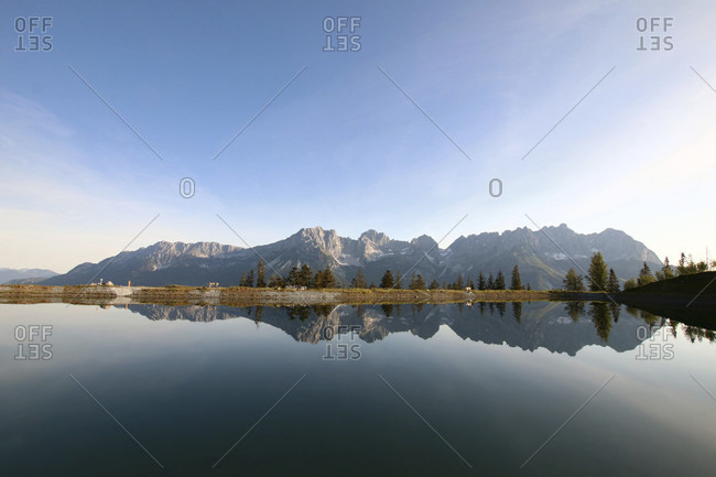 The Astberg reservoir near Going in Tirol is known as the mirror of the emperor