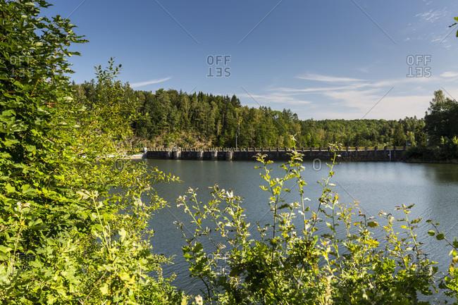 Europe, Poland, Lower Silesia, Zalotniki Dam - Talsperre Goldentraum