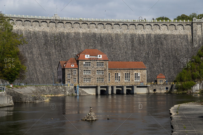 Europe, Poland, Lower Silesia, Pilchowice Dam - Bobertalsperre Mauer