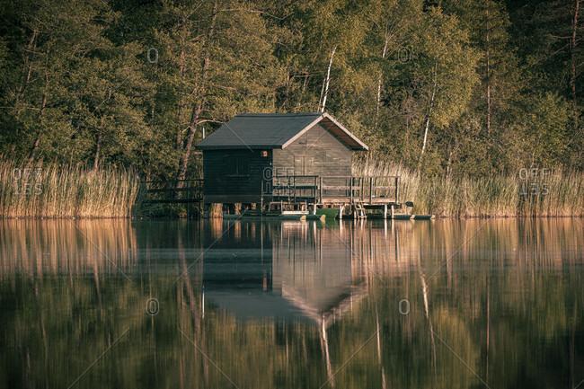 Haus am See, Vorsee, Wolpertswende, Baden-Wuerttemberg, Germany, Europe