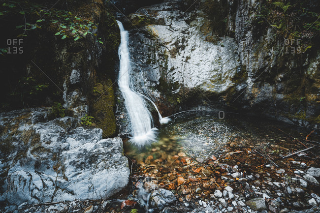Edelfrauengrab waterfall, Ottenhofen, Black Forest, Baden-Wurttemberg, Germany, Europe