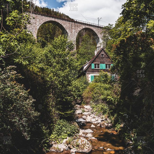 Black Forest, Hollental, Viaduct, Ravennaschlucht, Baden-Wurttemberg, Germany, Europe