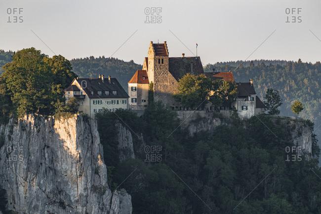 Werenwag Castle, Upper Danube Valley, Swabian Alb, Langenbrunn, Beuron, Sigmaringen District, Baden-Wurttemberg, Germany, Europe