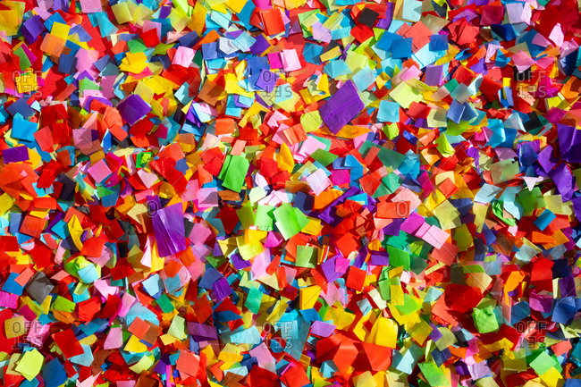 Full frame shot of colorful confetti pieces