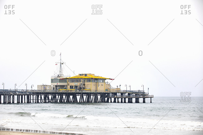 Santa Monica, California - July 22, 2020: View of the Maria Sol restaurant on the Santa Monica Pier