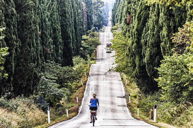 Bicycle along the Viale dei Cipressi, a famous road almost five kilometers long, it connects the Oratorio di San Guido, which stands along via Aurelia, to the historical center of Bolgheri