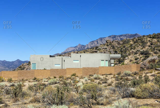Exterior of Houses by the Sandia Mountains in Albuquerque New Mexico