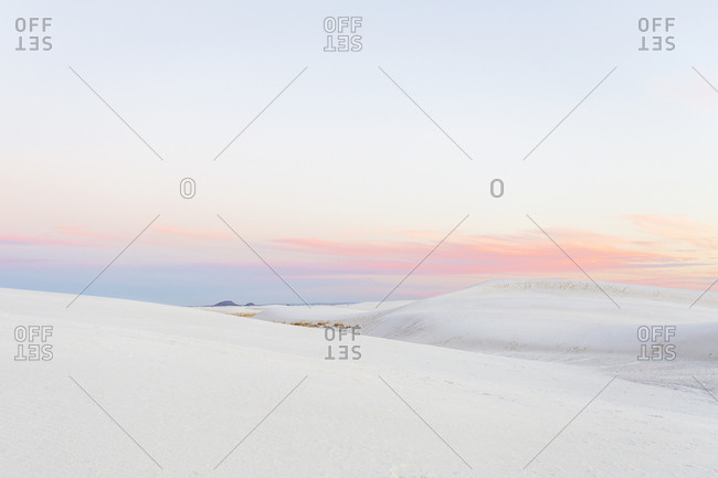 Colorful Sunset at White Sands National Park in New Mexico