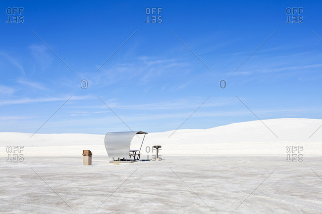 Empty Rest Area at White Sands Park in New Mexico