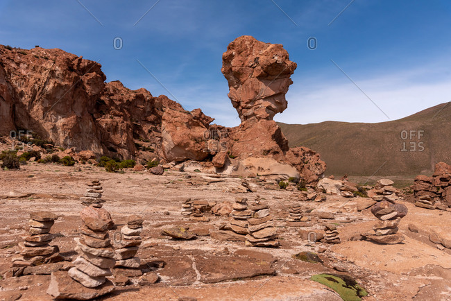World cup rock formation in Bolivia