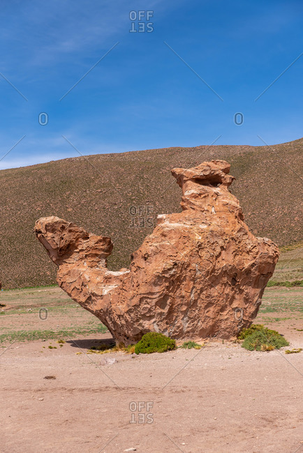 A camel rock formation in The Andean Highlands, Bolivia