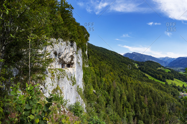 Austria- Upper Austria- Bad Goisern am Hallstattersee- Steep mountainside trail of Eternal Wall