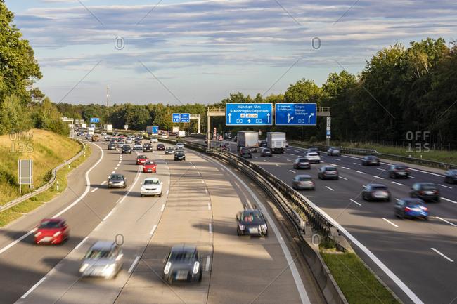 September 4, 2020: Germany- Baden-Wurttemberg- Stuttgart- Traffic onBundesautobahn 8