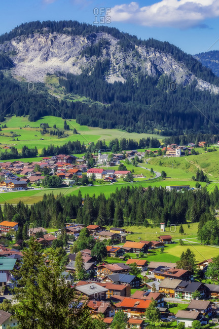 Austria- Tyrol- Gran- Village inTannheimer Tal during summer