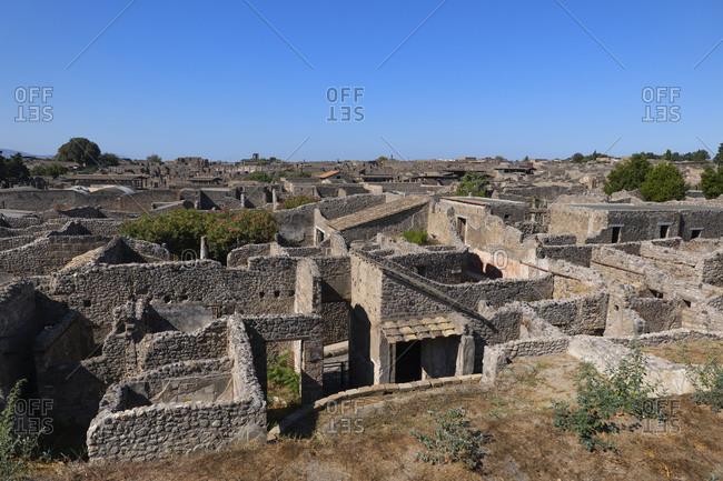 Italy- Campania- Pompeii- Ruins of ancient Roman city