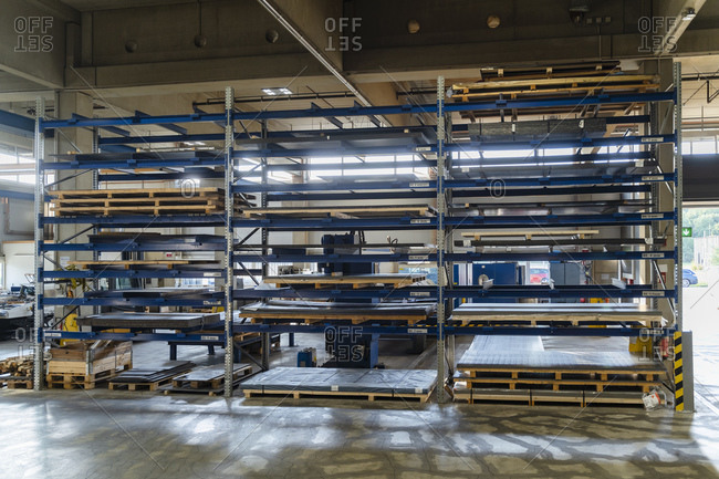 Store house in manufacturing factory