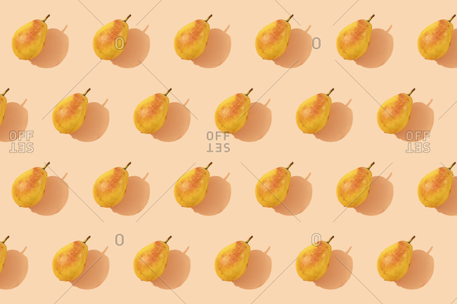 Pattern of fresh orange pears