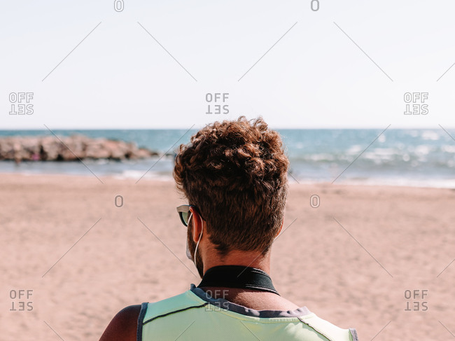 Lifeguard in the new normal with mask