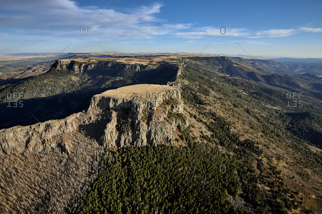 USA- Colorado- Aerial view of Fishers Peak in Rocky Mountains