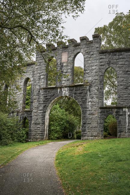 UK- Scotland- Oban- Gate of McCuaig's Tower