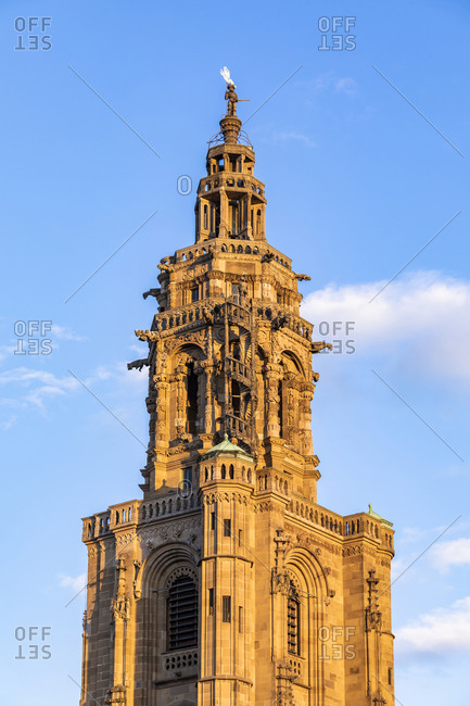 May 19, 2020: Germany- Baden-Wurttemberg- Heilbronn- Gothic bell tower of Saint Kilians Church