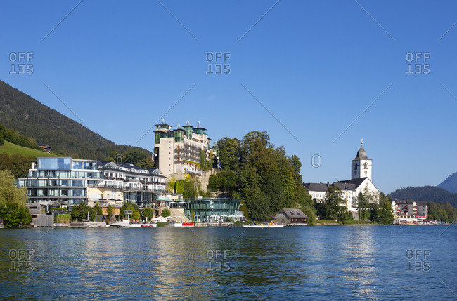 Austria- Upper Austria- Saint Wolfgang im Salzkammergut- Town on shore of Lake Wolfgangsee in summer