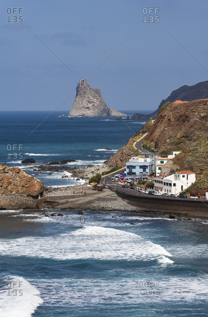 Spain- Province of Santa Cruz de Tenerife- Taganana- Secluded village on shore on Tenerife island