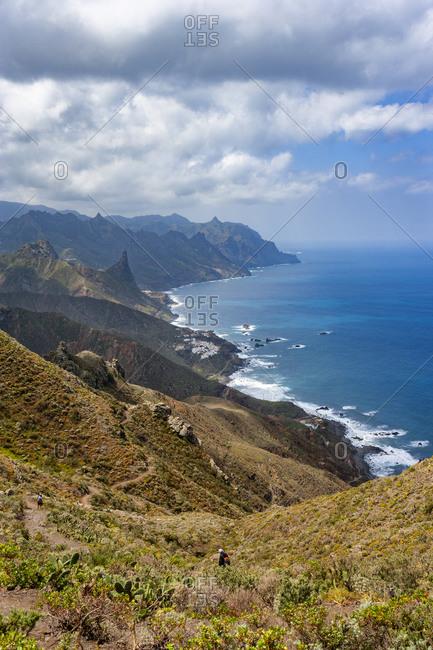 View from Macizo de Anaga range stretching along coast of Tenerife island