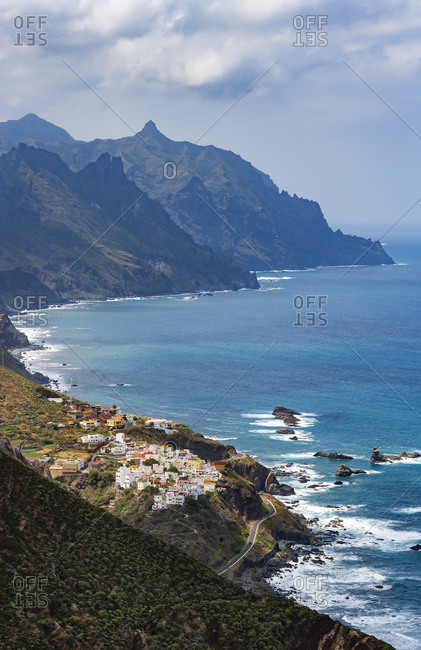 Spain- Province of Santa Cruz de Tenerife- Almaciga- Secluded village on rugged shore of Tenerife island