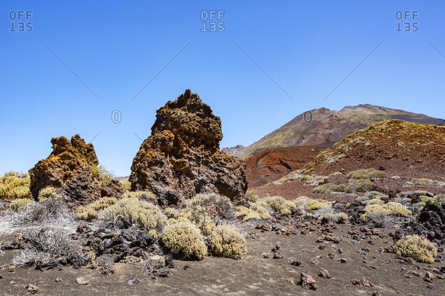 Volcanic landscape of Tenerife island