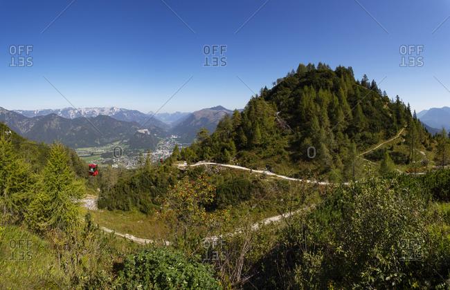 Austria- Upper Austria- Bad Ischl- Green forested mountains in summer