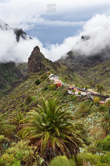 Spain- Province of Santa Cruz de Tenerife- Masca- Secluded village in Macizo de Teno range