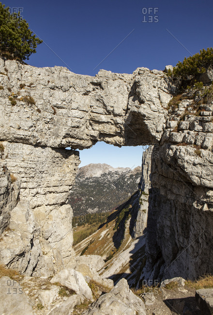 Natural rock of Loser Plateau on sunny day- Altaussee- Salzkammergut- Styria- Austria