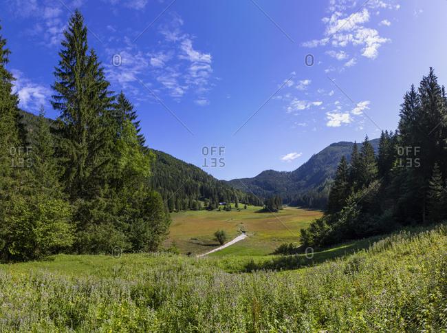 Tranquil scene of landscape against clear blue sky- Salzkammergut- Austria