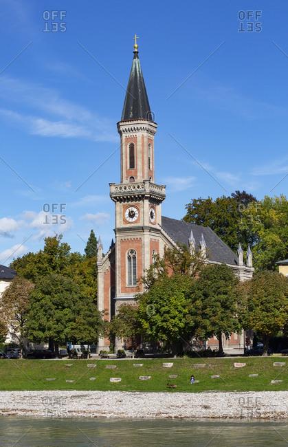 View of Evangelical Parish Church- Salzburg- Austria