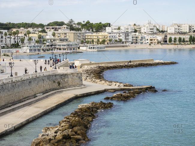 October 5, 2019: The harbor, Otranto, Apulia, Puglia, Italy, Europe