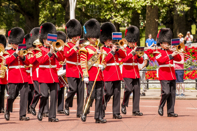 July 21, 2016: Changing of the Guard ceremonies at Buckingham Palace, London, England, United Kingdom, Europe