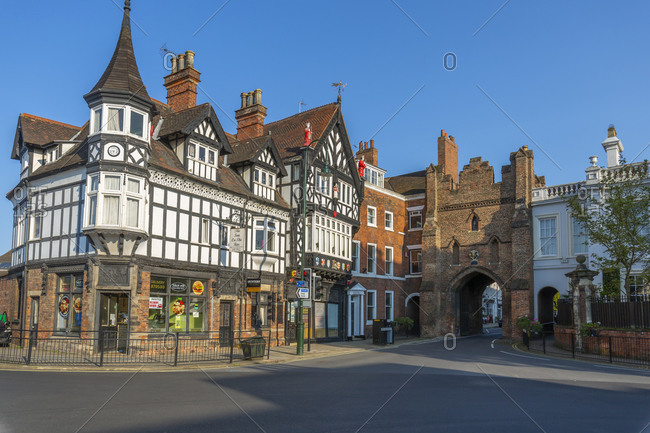September 14, 2020: View of North Bar, the city gate and ornate architecture, Beverley, North Humberside, East Yorkshire, England, United Kingdom, Europe