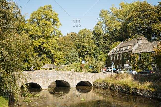 September 22, 2020: Bibury, Cotswolds, Gloucestershire, England, United Kingdom, Europe